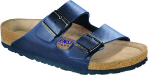 Birkenstock Arizona Blue Birko Flor Soft Footbed