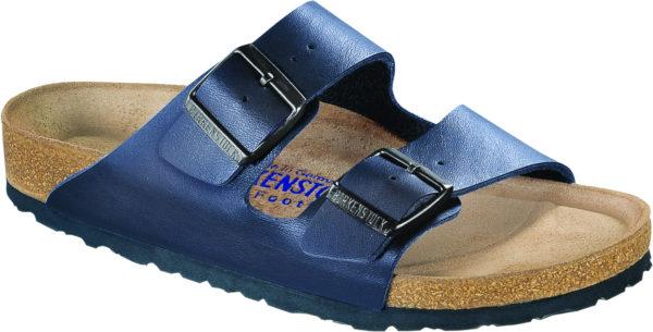 Birkenstock Arizona Blue Birko Flor Soft Footbed