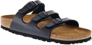 Birkenstock Florida Black Birko Flor Soft Footbed