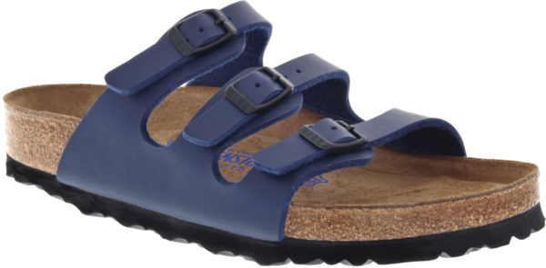 Birkenstock Florida Blue Birko Flor Soft Footbed