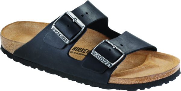 Birkenstock Arizona Black Oiled Leather Classic Footbed
