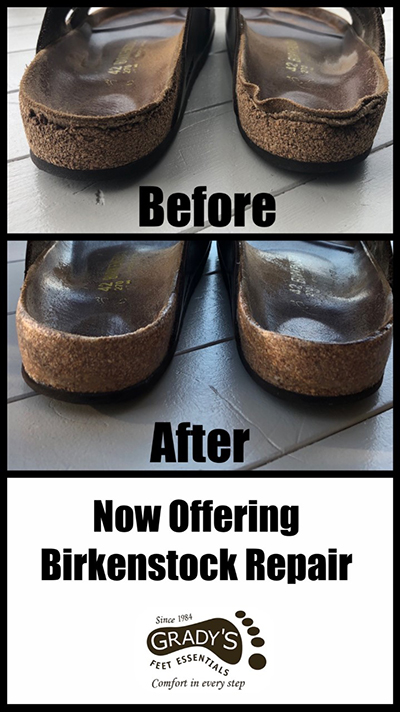 Birkenstock before and after repairs