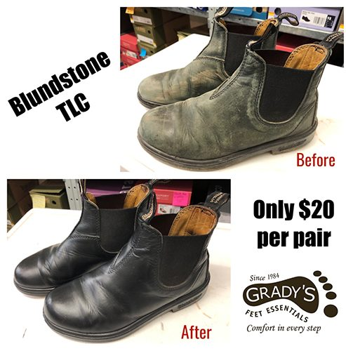 Blundstone before and after TLC