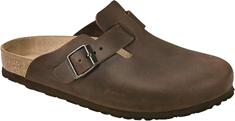 Birkenstock Boston Habana Oiled Leather Classic Footbed