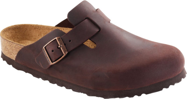 Birkenstock Boston Habana Oiled Leather Soft Footbed