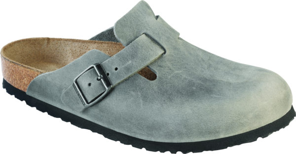 Birkenstock Boston Iron Oiled Leather Soft Footbed