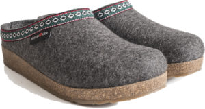 Haflinger Grizzly Grey Clog Pattern Trim