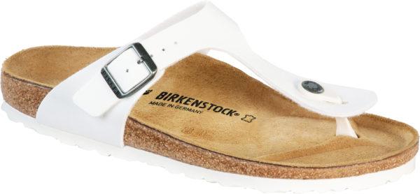 Birkenstock Gizeh White Birko Flor Classic Footbed