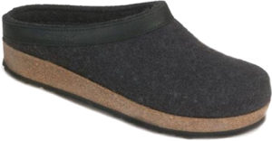 Haflinger Grizzly Charcoal Clog
