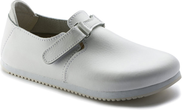 Birkenstock Linz White Leather Classic Footbed