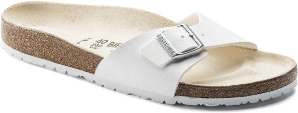 Birkenstock Madrid White Birko Flor Classic Footbed
