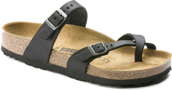 Birkenstock Mayari Black OIled Leather Classic Footbed