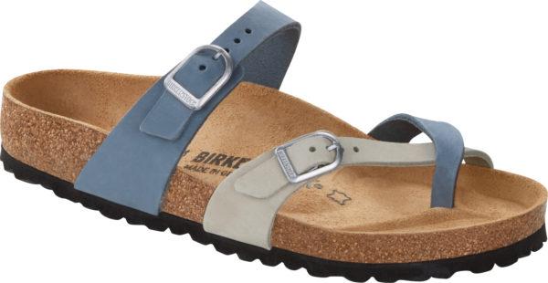 Birkenstock Mayari Blue Dove Multi Nubuck Classic Footbed