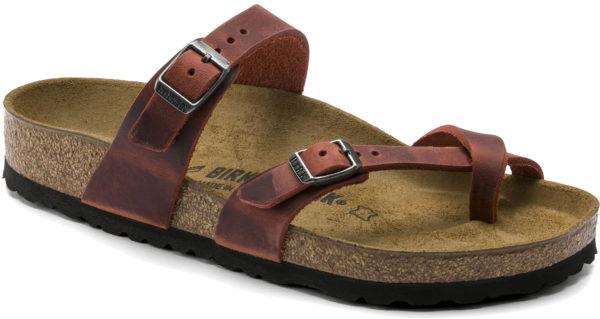 Birkenstock Mayari Earth Oiled Leather Classic Footbed