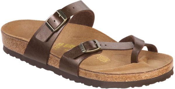 Birkenstock Mayari Graceful Toffee Birko Flor Classic Footbed