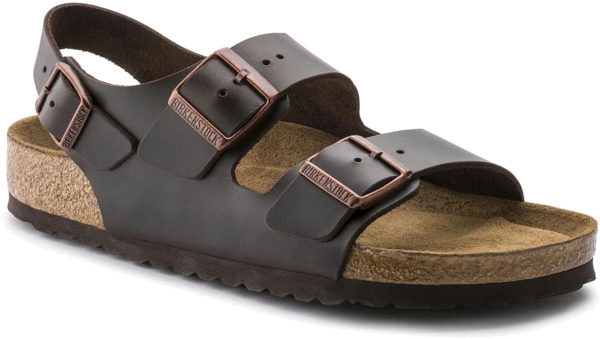 Birkenstock Milano Brown Leather Classic Footbed