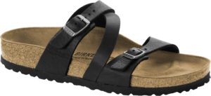 Birkenstock Salina Black Oiled Leather Classic Footbed