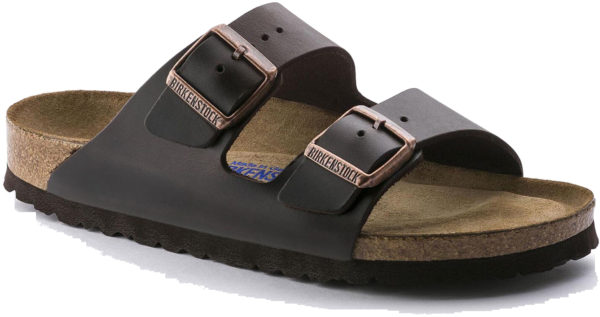 Birkenstock Arizona Brown Amalfi Leather Soft Footbed