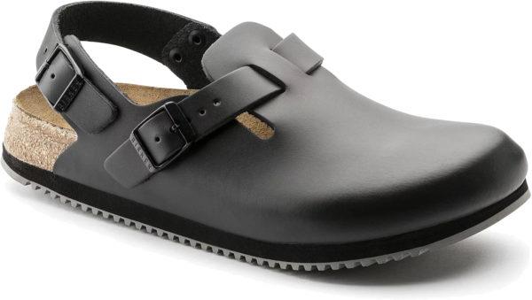 Birkenstock Tokio Black Leather Classic Footbed