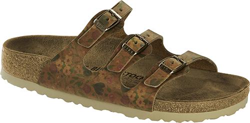 Birkenstock Florida Vintage Floral Leather Classic Footbed