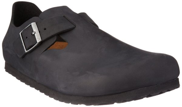 Birkenstock London Black Oiled Leather Classic Footbed