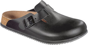 Birkenstock Boston Super Grip Black Smooth Leather