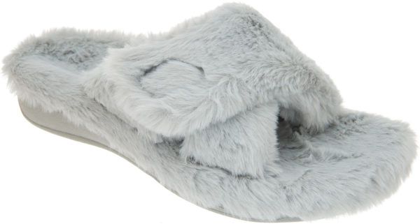 Vionic Relax Plush Grey Slipper