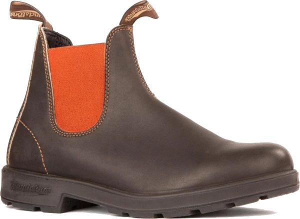 Blundstone 1918 Original Series Stout Brown with Terracotta Elastic