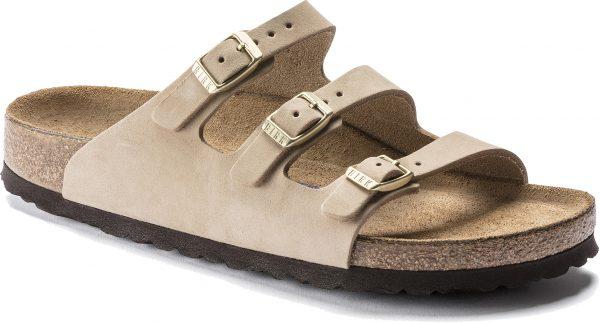 Birkenstock FLorida Sandcastle Nubuck Leather Soft Footbed 1018762