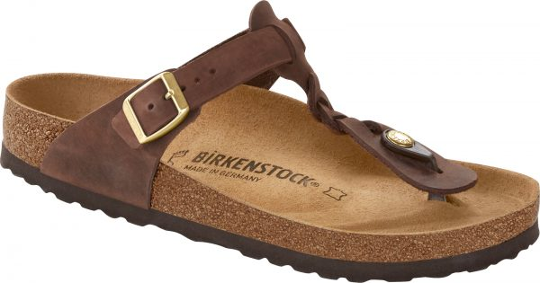 Birkenstock Gizeh Braided Havana Oiled Leather Classic Footbed 1015925