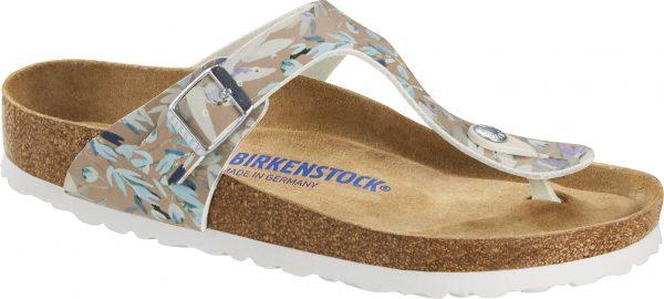 Birkenstock Gizeh Floral Rose Birko Flor Soft Footbed 1017647