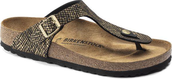 Birkenstock Gizeh Shiny Python Microfiber Classic Footbed 1018464