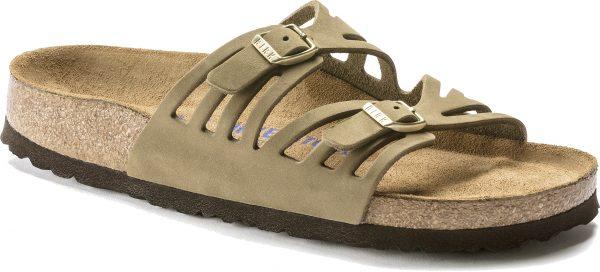 Birkenstock Granada Khaki Nubuck Soft Footbed 1018820