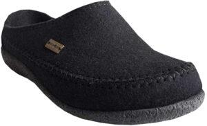 Haflinger Unisex Fletcher Black with removable footbed